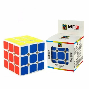 MoFang Jiaoshi MF3 3x3x3 Rubik's Cube Brain Teasers Speed Magic Cube Puzzles MF8803 White Body