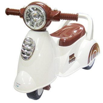 Moonbaby CB-605 Scooter Ride-On (White)