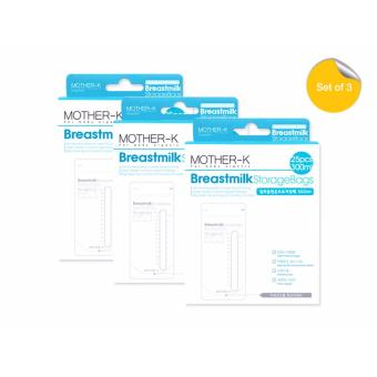 Mother K Breastmilk Storage Bags 300ml (Pack of 3)