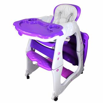 Multi-functional Adjustable 3 in 1 Baby High Chair Recliner FeedingTray HC-523 (Purple)