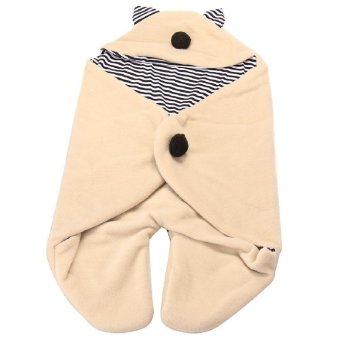 Multifunction Infant Swaddle Blanket Hooded Sleeping Bag Babies Soft Wrap Cute Cotton Warm - Intl