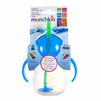 Munchkin Weighted Flexi Straw cup (blue)
