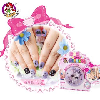 Music guitar children Children's manicure adhesive paper nail adhesive paper
