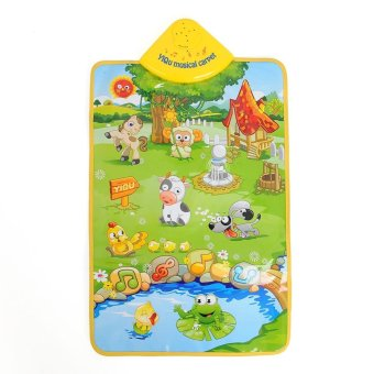 Music Sound Singing Farm Animal Kids Baby Play Playing Mat Carpet Playmat Toy