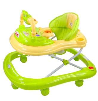 Musical 8-Wheeled Baby Walker (Green)