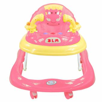 Musical 8-Wheeled Baby Walker (Pink) - 2