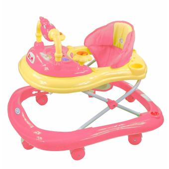 Musical 8-Wheeled Baby Walker (Pink)