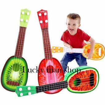 Musical Guitar Toys 4 String Acoustic Guitar Toy for Kids MiniFruit Guitars