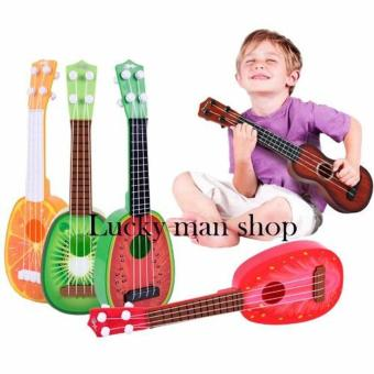 Musical Guitar Toys 4 String Acoustic Guitar Toy for Kids MiniFruit Guitars - 2