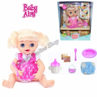 My Baby Alive Talking Doll Feed Poop And Change Diaper (Pink)