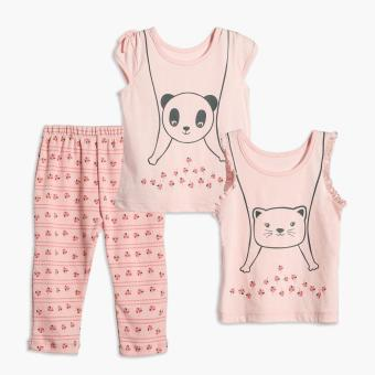 Nap Baby Girls Panda Pajama Set (Pink) Price Philippines