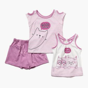 Nap Girls Good Morning Shorts Set (Violet)