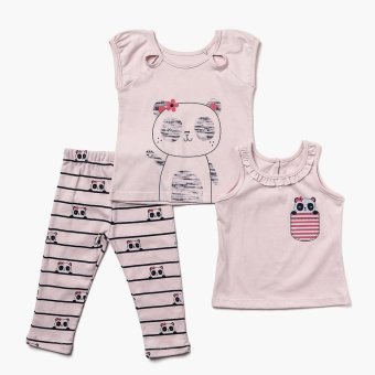Nap Girls Panda Pajama Set (Pink) Price Philippines