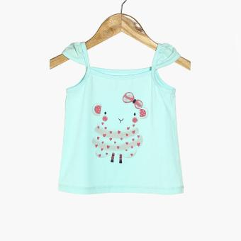 Nap Girls Sheep Pajama Set (Turquoise) - 2