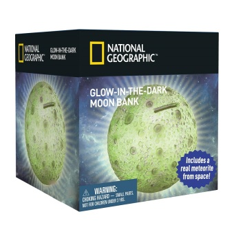 National Geographic Glow In The Dark Moon Bank Toy