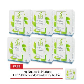 Nature to Nurture Free & Clear Laundry Powder Ultra Gentle 1kgpack of 6 free 1