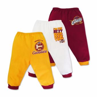 NBA Baby - 3-piece Pajama Pants (Next Big Thing - Cavaliers) 3-6Months