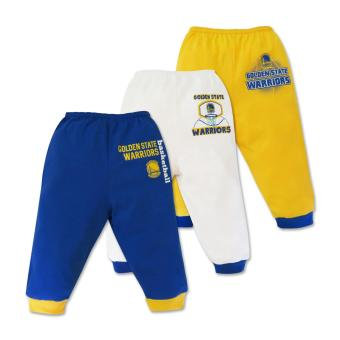 NBA Baby - 3-piece Pajama Pants (Warriors Basketball) 3-6 Months