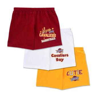 NBA Baby - 3-piece Shorts (Cutie-Cavaliers) - 100% cotton 9-12 Months