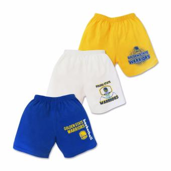 NBA Baby - 3-piece Shorts (Warriors Basketball) 3-6 Months