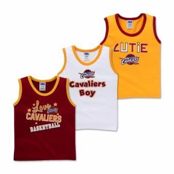 NBA Baby - 3-piece Sleeveless Tank (Cutie-Cavaliers) - 100% cotton 3-6 Months