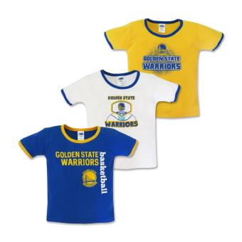 NBA Baby - 3-piece T-Shirt (Warriors Basketball) 3-6 Months