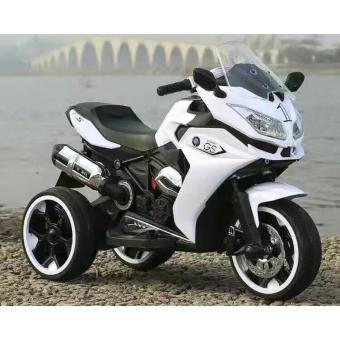 New 2017 Best Quality Shop Hong Kong R1200 Kids RechargeableElectric Ride-on 3 Wheel Motorcycle (White) Price Philippines