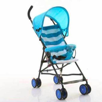 New 2017 Hong Kong Fashion Foldable Stroller (Blue) Price Philippines