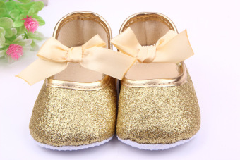 New Baby Girl Shoes New Born Toddler Shoes For Girls Bling Bowknot Princess Baby shoes First Walkers Silver