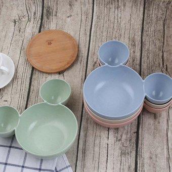 New Baby Infant Cute Mouse Shape Feeding Plate Fruit Snack DishesKids Children Tableware Set - Intl ..