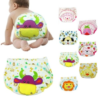 New Baby Infant Printed Cloth Diapers Reusable Nappy Washable Snap Nappy - intl