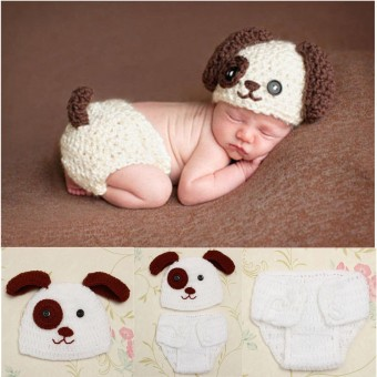 New! Hot! Newborn Baby Girls Crochet Knit Costume Photo Photography Prop Outfits - intl