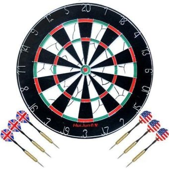 New Indoor Outdoor 18 inches Professional Dart Board Sport with 6pcs. Darts