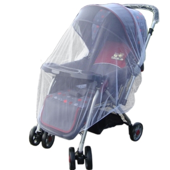 New Infants Baby Stroller Pushchair Mosquito Insect Net Safe Mesh White Buggy Cover