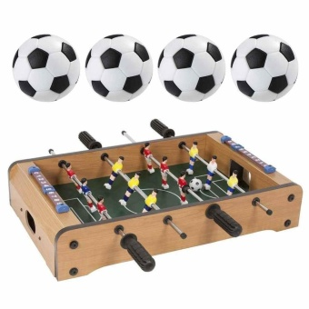 New Kid Play Toy Durable Plastic Table Football 4 PCS Indoor GameNever Fade - intl