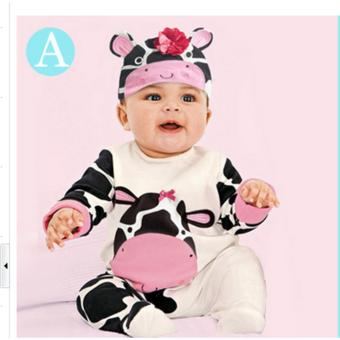 New Lovely Infant Baby Girls Boys Playsuit Romper+Hat CostumeOutfits Set