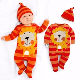 New Lovely Infant Baby Girls Boys Playsuit Romper+Hat CostumeOutfits Set - intl