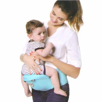New One Baby Carrier Cotton hooded Baby backpack Hipseat 2 in 1Baby Sling (Light Blue) - 3
