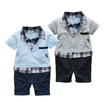 New style short sleeved crawling clothes onesie