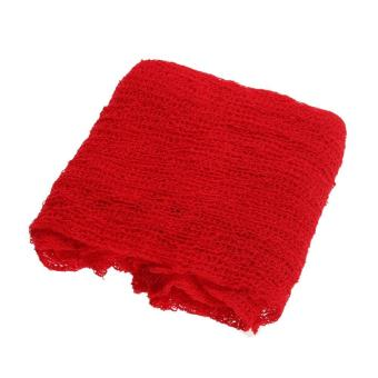 Newborn Baby Cotton Linen Swaddle Wrap Photography Prop (Red) - intl - 3