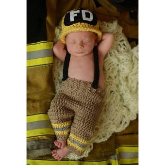 Newborn Baby Crochet Knit Photography Prop Outfits - intl