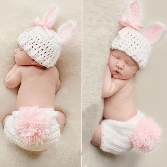 Newborn Baby Girl Boy Knitted Knit Costume Photo Photography PropHats Outfit - intl