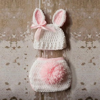 Newborn Baby Girl Boy Knitted Knit Costume Photo Photography PropHats Outfit - intl - 2