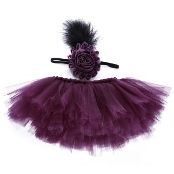 Newborn Baby Photography TuTu Veil Skirt Purple