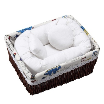 Newborn Baby Photography Wheat Donut Posing Pillow Basket FillerBaby Photo Prop - intl