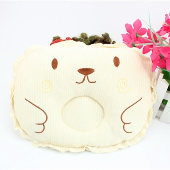 Newborn Baby Pillow for Infant Prevent Flat Head Pillow Head-shaping Color:Yellow Dimensions:30*21CM - intl