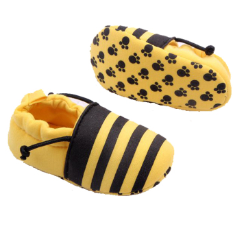 Newborn Baby Shoes Soft Sole Infant First Walkers Toddlers KidsFashion Slip-on Sneakers Bee - Intl