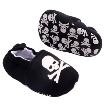Newborn Baby Shoes Soft Sole Infant First Walkers Toddlers KidsFashion Slip-on Sneakers Skull - Intl