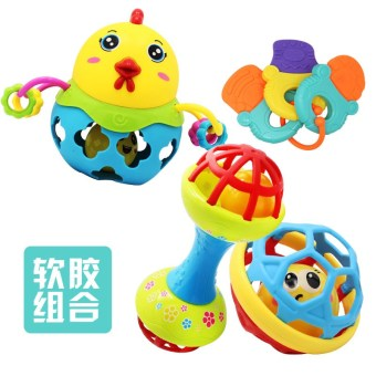 Newborn baby soft toy rattles