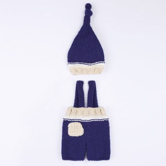 Newborn Bagby Knit Photography Prop Bue - 2